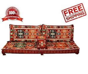 Turkish-Ottoman-Corner-Set-COVER-ONLY-Sofa-Cushion-pillows-Lounge-Couch-4pcs