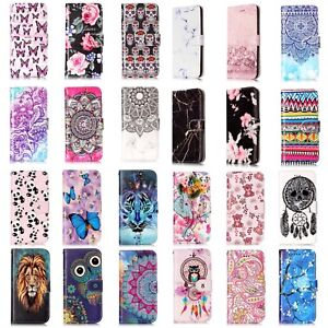 Flip-Wallet-Case-Leather-Fashion-Stand-Cover-For-Apple-iPhone-6-6S-7-8-Plus-UK