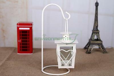 Meta lClassic Cage Lanterns Hanging Hearts Candle Holder Lights Home Table Decor