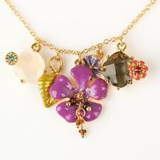 Les Nereides THERE ARE MORE SEASONS BUTTERFLY AND FLOWERS NECKLACE