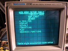 TEKTRONIX 2230 OSCILLOSCOPE  100 MHz DIGITAL STORAGE TESTED