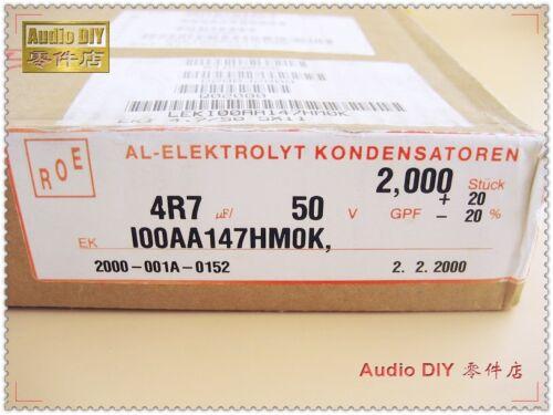 30pcs Vishay ROE EKI Series 4.7uF//50V Low Leakage Electrolytic Capacitor