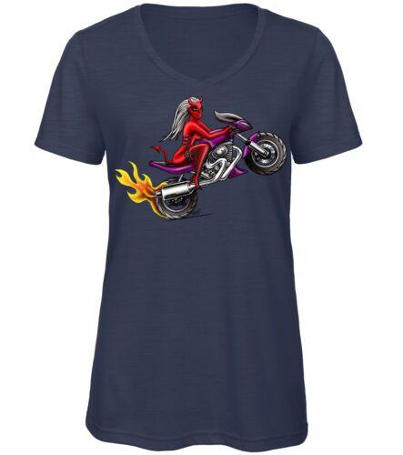 T-Shirt Motard Diable Femme Qualité T et Qualité d/'impression