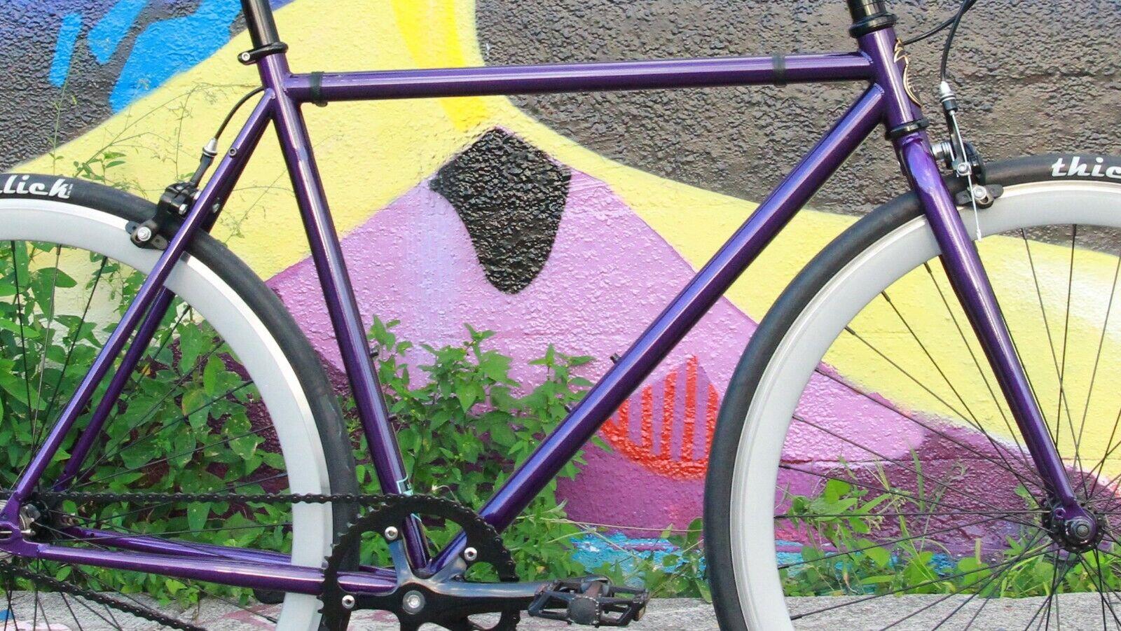 Chromoly Fixed Fixed Fixed Gear Frameset Track Road Bike Frame and Fork 5c240f