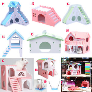 Eco-Board-Pet-Hamster-Slide-Stairs-Small-Animals-Villa-Bedding-Cage-House-Nest