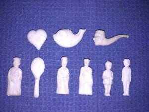 FEVES Lot de 140 feves anciennes en plastique DANS BOITE D ORIGINE