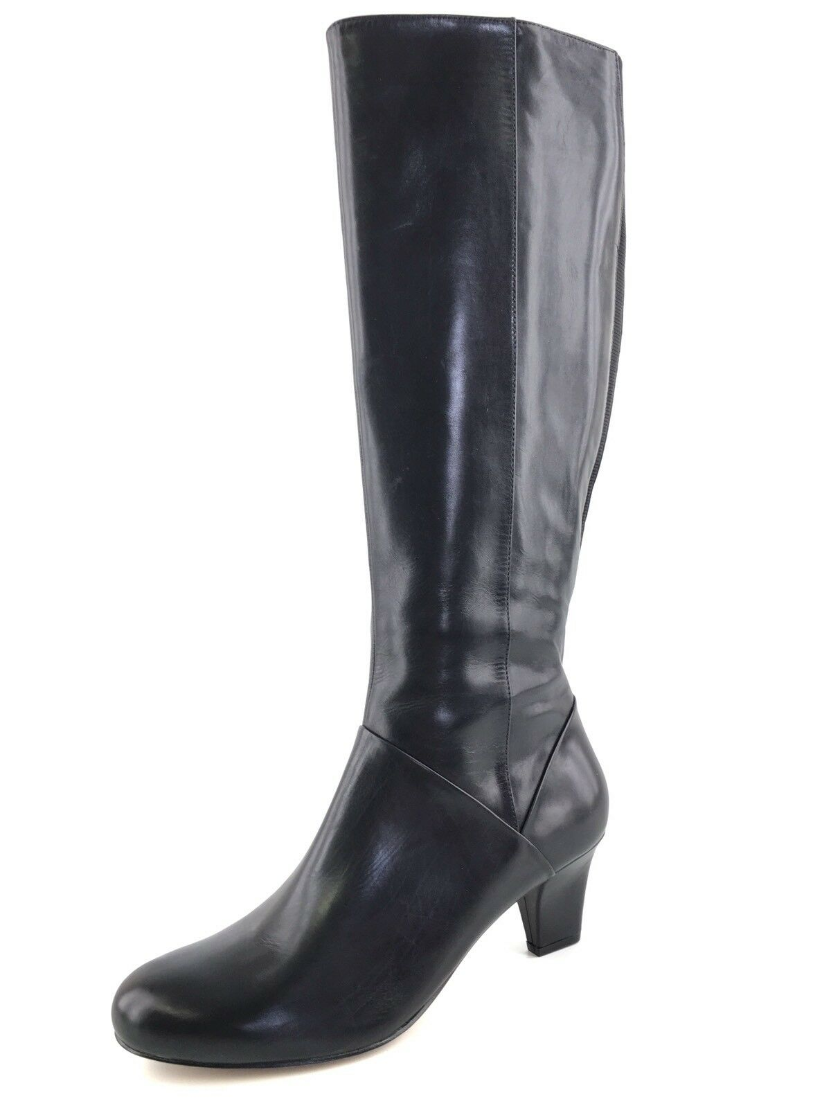 Trotters Lyra Black Leather Knee High Fashion Boots Women's Size 5.5 M*
