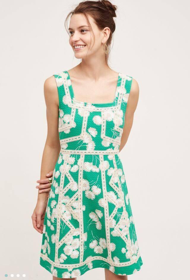 NWT SZ 0 Emma Dress By Maeve Green