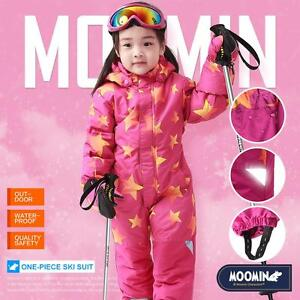 85e52fd275d5 Moomins Kids Girls Ski Suit Snow Suit All in one Piece Snowboard Set ...