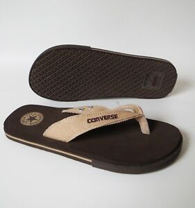 de3b1f4f421 Women s Men s CONVERSE All Star THONG Brown SANDALS Flip Flops ...