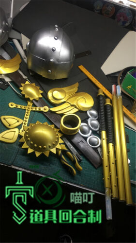 Digimon Angemon Cosplay Costume Prop Helmet+Weapon+Belt Accessory Full Set