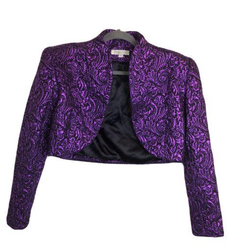 Victor Costa Vintage Metallic Bolero Jacket Size 1