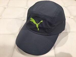 Puma-Gray-Staunton-Running-Cap-Hat-Curved-bill-Adjustable