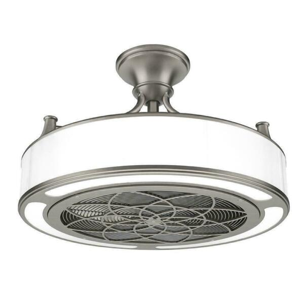 Stile Anderson Cf0110 22 Quot Led Ceiling Fan Brushed Nickel