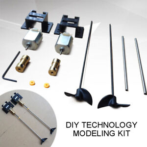 2-Kits-Double-Motors-RC-Boat-Motor-Drive-Set-For-130-Motor-15CM-Shaft-Propeller
