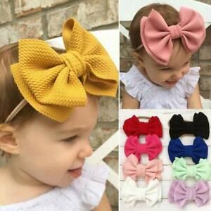 Girls-Kids-Baby-Toddler-Bow-Knot-Hairband-Headband-Stretch-Turban-Head-Wrap