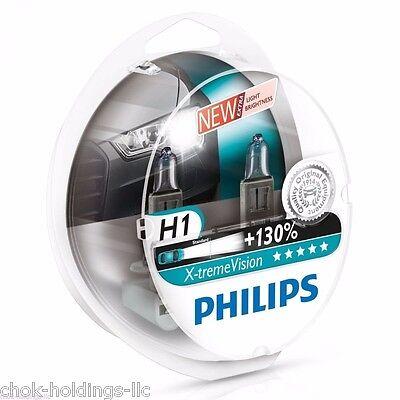 H1 XTREME VISION CAR HEADLIGHT BULBS X TREME VISION PHILIPS H1 BULBS Pair Bulbs