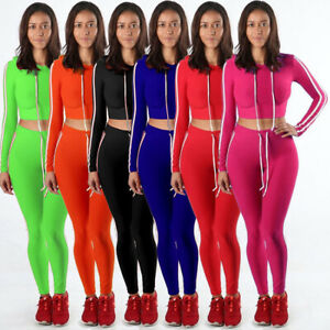 Womens-Casual-2-Piece-Outfits-Sport-Bodycon-Crop-Top-Pants-Set-Hoodie-Tracksuits