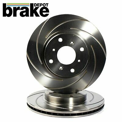 Front Brake Discs to fit Mitsubishi Evo 5 6 7 8 9 Dimpled and Grooved