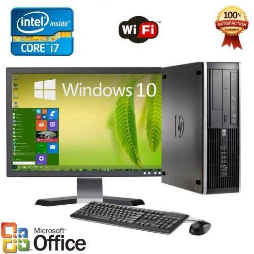 Clearance Fast HP Desktop computer PC i7 8/16GB RAM Win 10 LCD + KB + MS