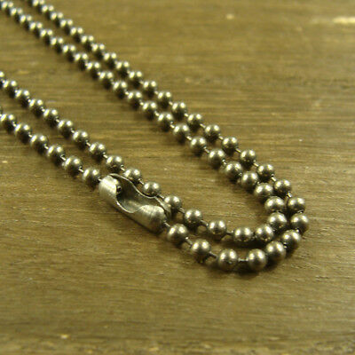 """Lot of 20 STAINLESS STEEL 30/"""" Necklaces 2.4mm Military Ball Chain MADE IN USA"""
