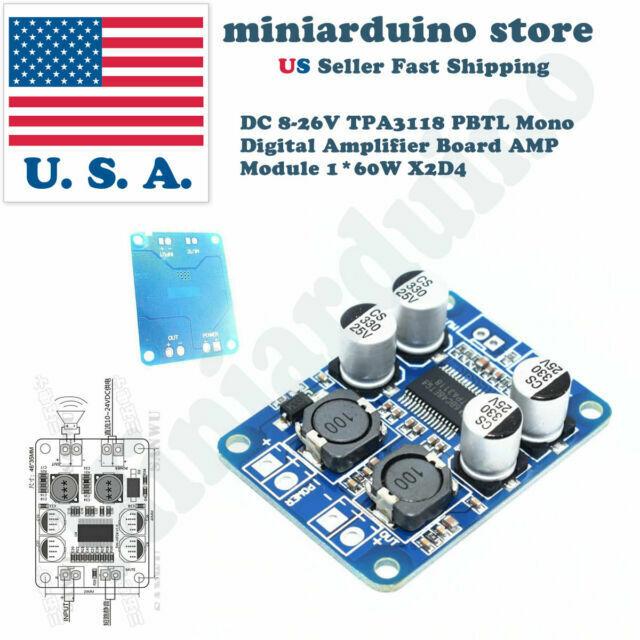 60W TPA3118 Digital Amplifier Board AMP DC 10-24V Module PBTL Mono,,