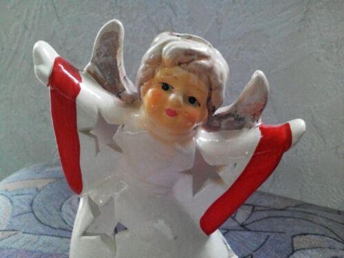 3052 Weihnachtlicher Teelichthalter Engel aus Porzellan Art