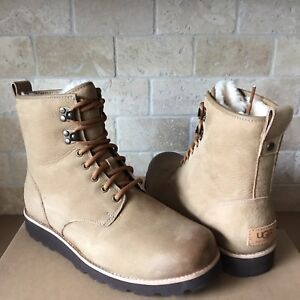 3021de90c0a Details about UGG HANNEN TL DESERT SAND WATERPROOF LEATHER WORK BOOTS SHOES  SIZE 9 MENS