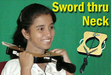 New SWORD THROUGH NECK Stage Magic Trick Thru Illusion Head Stock Penetration