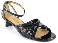 Aysana Macy Dress Sandal Shoe Black Patent 38