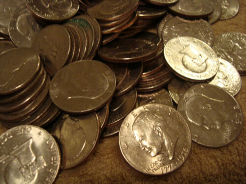 $2 BILL AND HIGHER GRADE Eisenhower Dollars 8 Coin Lot 1971-1978 AU TO UNC
