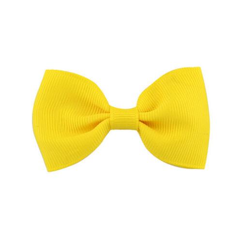 20Pcs Hair Bows Band Boutique Alligator Clip Grosgrain Ribbon For Girl Baby HI