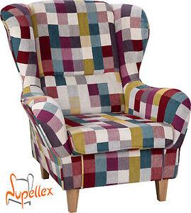 supellex ohrensessel sofia wahlweise mit hocker ebay. Black Bedroom Furniture Sets. Home Design Ideas