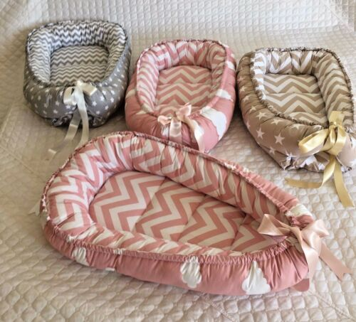 Baby Nest Bed Natural Sheeps Wool Babynest Organic Cotton Cover Handmade Snuggle