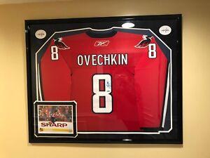 wholesale dealer 00d4d 89b29 Details about Alex Ovechkin Autographed Jersey w/ Custom Frame