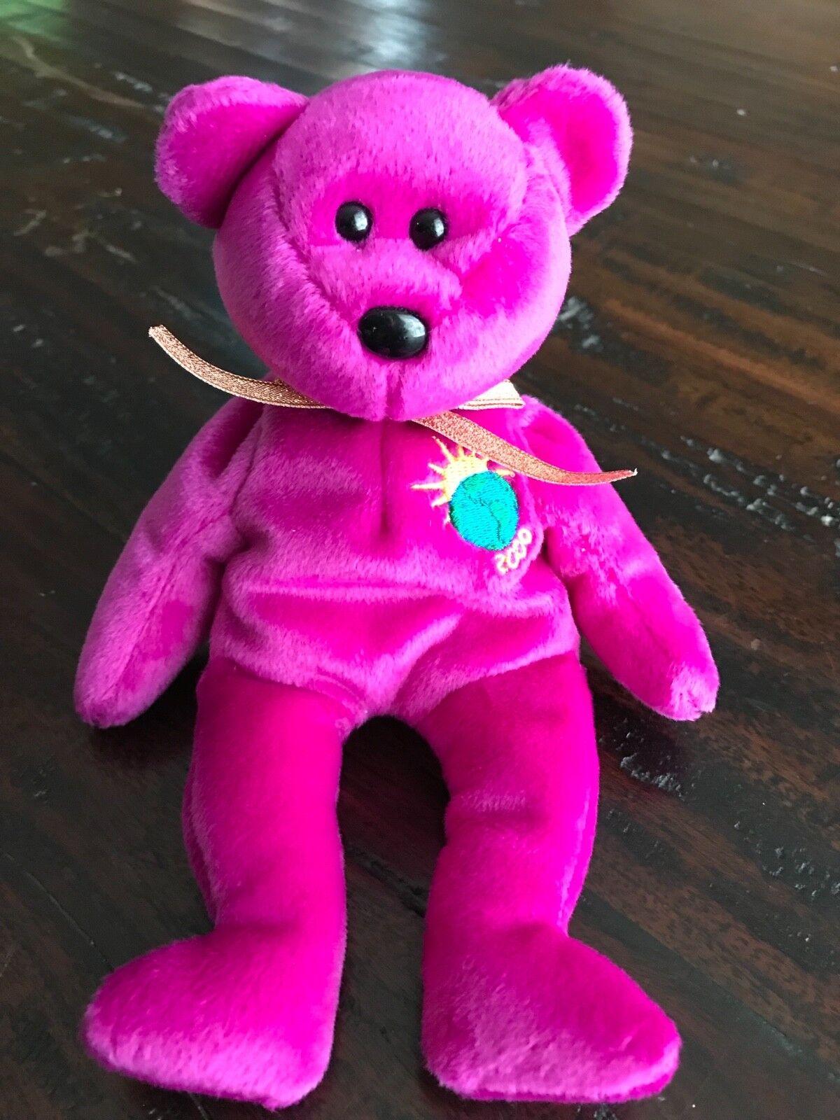 TY BEANIE BABY Millennium Millenium Bear 1999 Very Rare