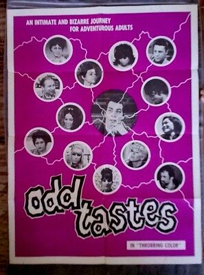 Color rosa Estadísticas Elucidación  Odd Tastes Original movie poster Adult Film DON A. DAVIS Marsha Jordan?  1968 | eBay