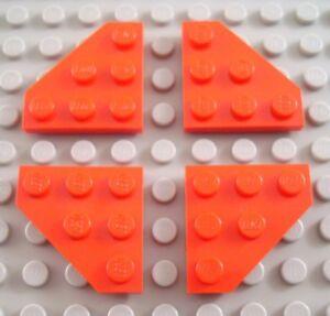 New LEGO Lot of 4 Black 3x3 Cut Corner Bricks