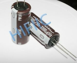 2pcs Nichicon Pw Electrolytic Capacitor 3300uf 50v Ebay