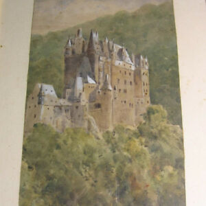 Unleserlich-sig-LANDSCHAFT-mit-BURG-ELTZ-im-Elz-TAL-Mosel-Tal-der-Schloss
