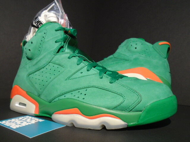 NIKE AIR JORDAN VI 6 RETRO NRG G8RD G8RD G8RD GATORADE PINE GREEN orange AJ5986-335 10.5 6a9c2f