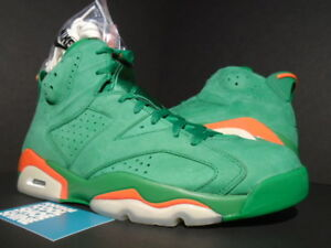 cccc926806a NIKE AIR JORDAN VI 6 RETRO NRG G8RD GATORADE PINE GREEN ORANGE ...