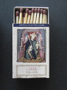 Hungarian-Kings-St-Stephan-Matchbook-w-safety-match