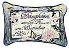 """Set of 2 Daughter Flowers Butterflies Decorative Throw Pillows 9"""" x 12"""""""