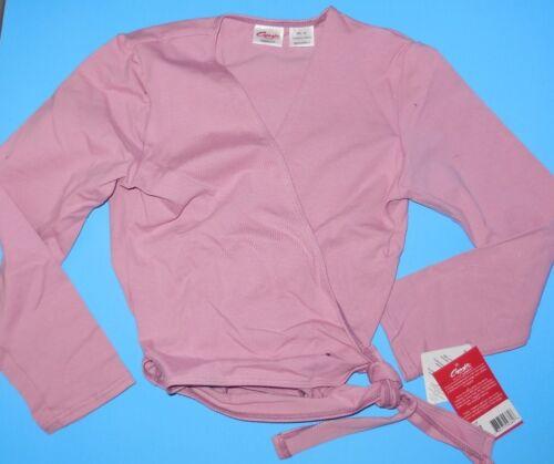 NWT Capezio Cotton Wrap Sweater CC850 Deep Rose Ladies sizes Ballet coverup
