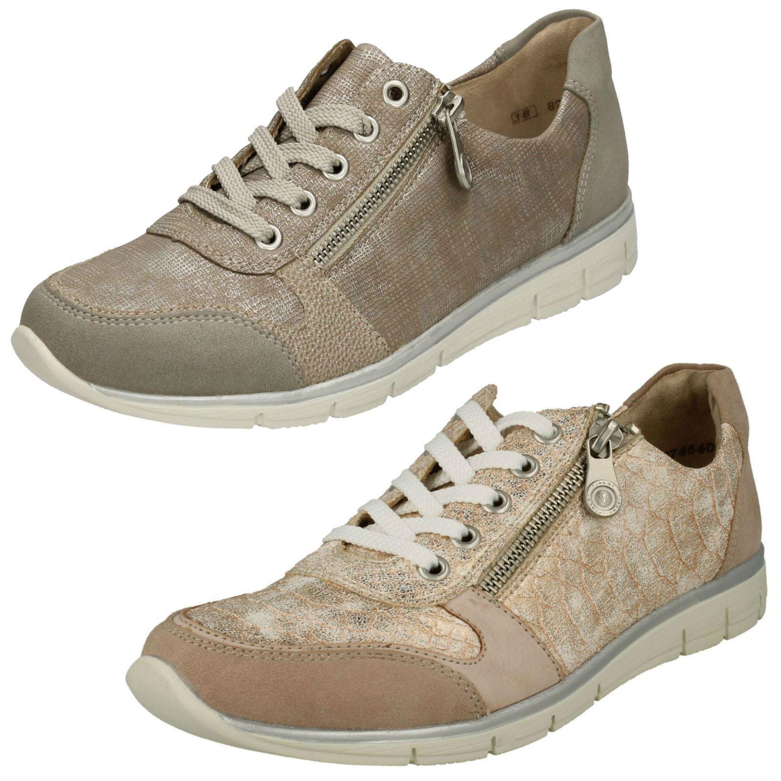 Mujer Rieker N4020 N4020 N4020 gris O rosado Sintético Zapatos Casual Con Cordones  liquidación hasta el 70%
