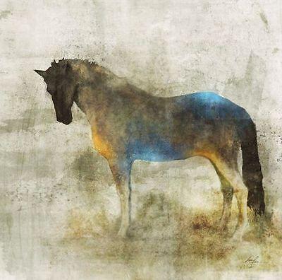 Ken Roko: Lone Star 4 Fertig-Bild 50x50 Wandbild Pferd