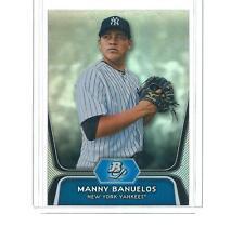 2012 BOWMAN PLATINUM BASEBALL MANNY BANUELOS ROOKIE REFRACTOR #BPP3