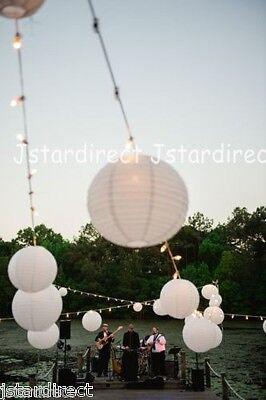 "5X 10X Round White Chinese Paper Lanterns Lamp 8"",10"",12"",16"" Wedding Party USA"