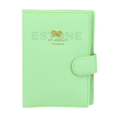 Travel Fashion Bowknot Passport Protector Card Cover PU Leather Wallet Holder